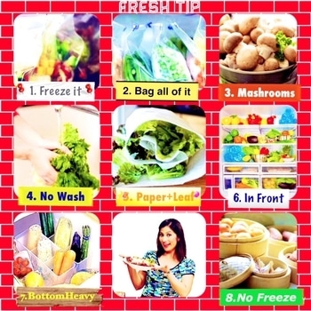 "#MeghnasMagicTip #Tips   The most common complaint I've heard from my friends is, ""I don't buy fruits vegetables in a lot because it gets bad too quickly.. in a day or two they lose the freshness, even though storing them in the refrigerator ."" So here are Meghna's Magic Tips to keep your vegetables fresh for couple of days.  1. Bag all your veg and put them in the fridge as soon as you get home. Don't leave veg lying around.   2. Pack your vegetables in clean film plastic bag, push the air out and tie it up tightly.   3. There's one exception: mushrooms. Keep them in a paper bag in any of the shelves and aim to use them within 3-4 days.  4. Do not wash your vegetables before you put them in the fridge. The extra water from washing will cause them to rot faster.  5. Wrap leafy vegetables in paper towel before putting them in the container. Don't wash them as moisture would cause issues. And the paper will absorb any excess moisture from the leaves.  6. Letting your greens come into contact with the back of your fridge will cause them to freeze. Keep everything away from the back of the fridge.   7. Try & put the heavy vegetables like carrots and cauliflower at the bottom of your 'limper tray', and keep celery, leafy greens and asparagus at the top.   8. Don't store your onions, garlic or sweet potatoes in the fridge. Keep them in a ventilated cupboard to ensure they last for few weeks.  #vegetables #KeepFresh #KitchenTips #Greens #chef #ChefMeghna #FoodTips #KitchenIdeas #Foodies #FoodPorn #MasterChef #Foodstagram #food"