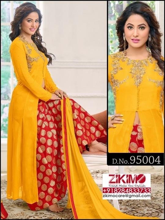 Heena Khan Georgette Embroidered Dresses