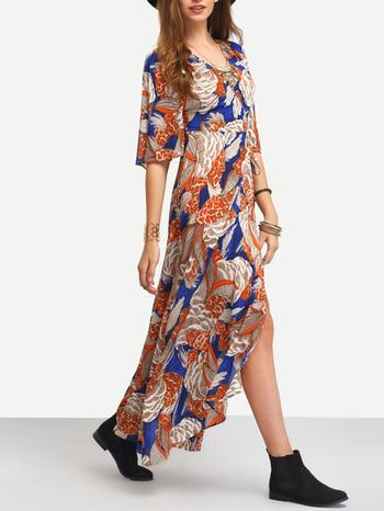 Multicolor Print Tie-waist Wrap Maxi Dress http://thefashionmart.in/   @roposotalks #soroposo #roposolove #roposoaddict @roposocontests #wedmealready #calcutta #ludhiana #indianfashionblogger #glam #gorgeous #follow4follow #traditional #sweet #makeup #designerstuff #tshirt #beauty #goals #jeans #like4like #celebrity #fashion #hot #lehenga #clothes
