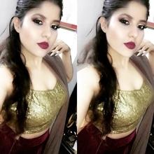 Lohri face 🍷 #makeuptips