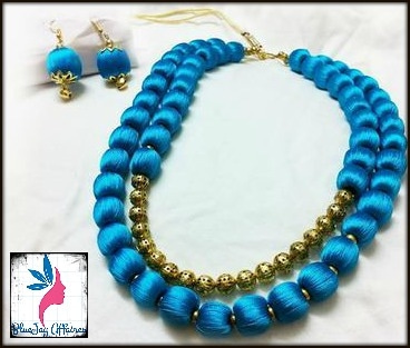<b>Whatsapp : +918754585419</b>   Do you love it? ;) Well, we would be happy to send this jewelry to you :) <b>We ship all over India and overseas, as well.</b> To place your order or know more information on the product, kindly <b>whatsapp on +918754585419</b>, or leave a comment in this post, and we would get back to you.  * <b>Colors can be customized to go with your dress/saree.</b> * All bangle sizes available - 2.2, 2.4, 2.6, 2.8, and 2.10. * We craft every jewelry with painful levels of care, love and perfection... and some more love :) * To check our complete lust-worthy collection, head on to https://www.roposo.com/profile/jayalaxmi/a6b27bdb-0129-4461-ac09-ff36e7adf338  We are proud to be a part of the powerful, inspiring, and the ultra-ambitious women of this world, just like you :) Be the uncanny, phenomenal, and the ever-so-beautiful you, that you want the world to see.   #silkthreadjewelry #fashionjewelry  #silkthreadbangles #silkthreadearrings #silkthreadjhumkas #partyjewelry #fashionaccessories #etsy #handmadejewelry #etsymntt #weddingjewelry #bridaljewelry #fashionista #valentinesgift #giftsforher  #bluejayaffaires