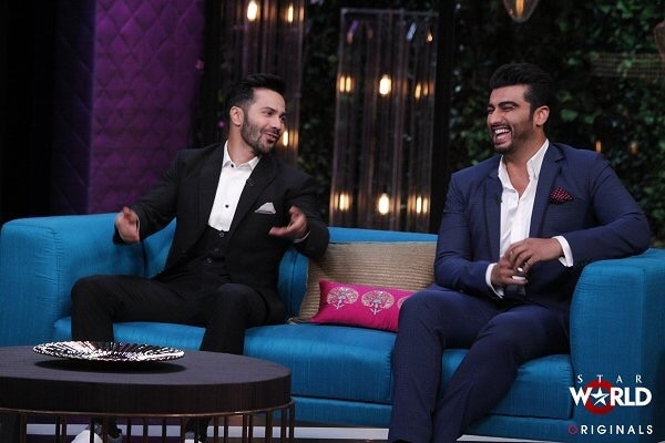 For their appearance on Koffee with Karan, Arjun Kapoor  & Varun Dhawan both wore suits in a casual fashion