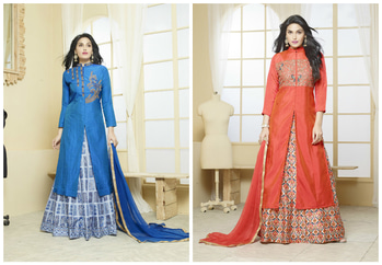 New Silk Embroidered Indo Western Gowns For you, Wear Them this Shaadi Season!  Buy Now: http://bit.ly/2k64fMW  #Fleaffair #FleAffairWithshopping #Fashion #style #indo-western #Gown #lehenga #indianfahion #indianwear #indianlehenga #Design #grabit #awesomelook #nicecollection #love #EverythingButTheOrdinary