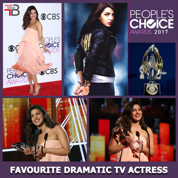 "THE BIG WIN: Priyanka Chopra wins the Favourite Dramatic TV Actress for her role in "" Quantico"" at the People's Choice Awards 2017.  This comes as a double whammy as she clinches the title for second time in a row. Certainly a pride of honour for all the Indians. Way to go girl! #priyankachopra #quantico #peopleschoiceawards #bollywood #desigirl #fashion #peecee #tvactress #actress"