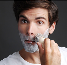 Use the right shaving cream and shaving brush for that optimum shave.   The shaving cream helps to moisture the whiskers, keeping them soft, upright and primed for the cut. The brush, on the other hand, helps in exfoliation which reduces the chance of blemishes and razor bumps.   #shavingtip #shaving #beard #shavingcream #shavingbrush
