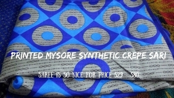 Designer Saree: Printed Mysore Synthetic Crepe Sari Unboxing #saree #women