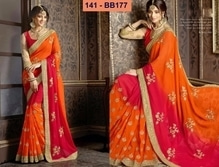 Fabric - Heavy Georgette Blouse - Dhupain+Russal Net 6.30 meter saree with blouse Work - Zari Embroidary Full Work