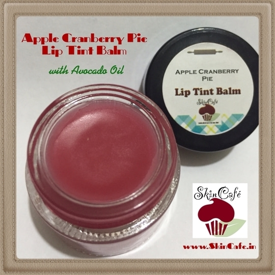 Apple Cranberry Pie Lip Tint Balm with hydrating Avocado Oil  Shop at www.SkinCafe.in  #fresh #natural #wholesome #nochemicalpreservatives #crueltyfreeskincare #crueltyfreecosmetics #crueltyfreebeauty #crueltyfreemakeup #nopoo #skincare #lipcare #skincafe #skintreats #handcrafted #handmade #lipbutter #lipbalm #lipbalmaddict #liptint #liptintbalm #tintedlipbalm  #apple #applepie #cranberry #applecranberrypie #mangobutter #mangoseedbutter #cocoabutter #avocadooil #hydrating #lipcolour