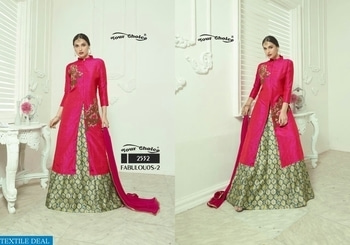 YOUR CHOICE FABULOUS 2 WHOLESALE FANCY BOTTOM SALWAR SUITS Catalog pieces: 4 Full Catalog Price: 3980 Price Per piece: 995 MOQ: Full catalog Shipping Time: 4-5 days Sizes: Semi Stich  company name :- textiledeal  For more info feel free to call or  whatsapp :- +91-9426089844  link :- https://textiledeal.in/wholesale-product/6684/your-choice-Fabulous-2-Wholesale-Fancy-bottom-Salwar-suits  We will give a original product only .