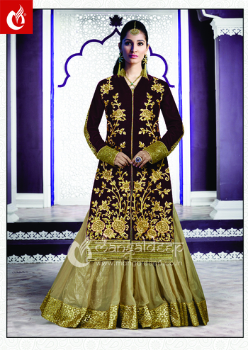 Regal and queenly will be synonymous to your personality as you adorn this Chikoo #Net Semistiched #IndoWesternDress. Buy it now :- https://goo.gl/ypsarv  👗👚 For Live Shopping Click This Link :- https://goo.gl/3tCilt For more information :- Call us @+919377222211 (Whatsapp Available)