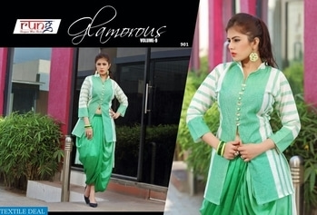 RUNG GLAMOROUS VOL-9 WHOLESALE WESTERN DESIGNER KURTIS Catalog pieces: 9 Full Catalog Price: 6291 Price Per piece: 699 MOQ: Full catalog Shipping Time: 4-5 days Sizes: L,XL  company name :- textiledeal  For more info feel free to call or  whatsapp :- +91-9426089844  link :- https://textiledeal.in/wholesale-product/6693/Rung-Glamorous-vol-9-Wholesale-Western-Designer-kurtis   We will give a original product only .
