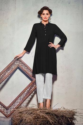 Simple Daily Wear #Black Colored Kurti. It comes in #REYON fabrics. Occassion - Casual, Office Wear. Work - Embroidered. Size - M, L, XL, XXL. Album no - 1018. Pcs no - 6504. Visit - http://www.lkfabkart.com/   #kurti #kurtilove #kurtistyles #kurtisonline #kurtisforwomen #kurtishopping #kurtionlineshopping #kurtisprice #kurtiswholesaler #kurtisale #kurty #kurtys #kurtiswag #designerkurti #designerkurtis #designerkurtionlineshopping #designerkurtipatterns #designerkurtis2K17 #black  #blacklove #blacklovers  #lkfabkart