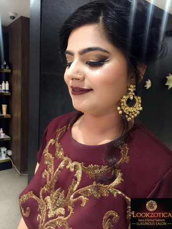 Exclusive #Party Makeup At Lookzotica Luxurious Salon | Contact us on 99119 80660 For #Enquiry & #Prices | Special Bridal & Pre-Bridal Packages | Spa | Salon #Services | Groom #Packages  #Lookzotica #LuxurySalon #PunjabiBagh #PartyMakeup #BridalMakeup #PreBridalMakeup #MakeupArtist #PreBridalPackages #SalonServices #GroomPackages #UnisexSalon #BestInClass #LuxuryMakeovers #ElegantMakeup #MAC #Krylon #HD #Airbrush #AdvanceAirbrush #Offers