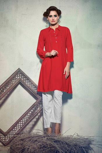 Simple Daily Wear #Red Colored Kurti. It comes in #REYON fabrics. Occassion - Casual, Office Wear. Work - Embroidered. Size - M, L, XL, XXL. Album no - 1018. Pcs no - 6506. Visit - http://www.lkfabkart.com/   #kurti #kurtilove #kurtistyles #kurtisonline #kurtisforwomen #kurtishopping #kurtionlineshopping #kurtisprice #kurtiswholesaler #kurtisale #kurty #kurtys #kurtiswag #designerkurti #designerkurtis #designerkurtionlineshopping #designerkurtipatterns #designerkurtis2K17 #red  #redlove #redlovers  #lkfabkart