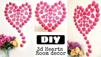 How to make PAPER HEARTS & ROOM DECOR IDEAS | Easy DIY 3D HEARTS