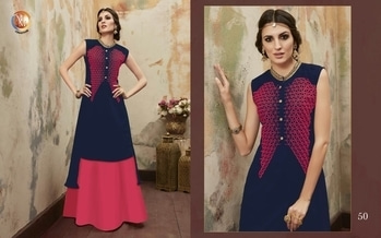 Dm Kurtis with skirt  Size- xl   xxl    Rate-1600/-plus shiping  Fabric- Georgette