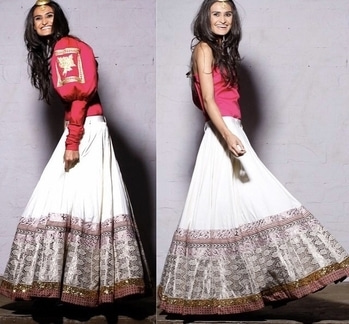Beautiful Rachel Maria Bayros being candid and cute at the shoot www.vijaybalhara.com #vijaybalhara #lookbook #editorial #fashion #desi #style #lehenga #skirt #brocade #candid #moments #supermodel