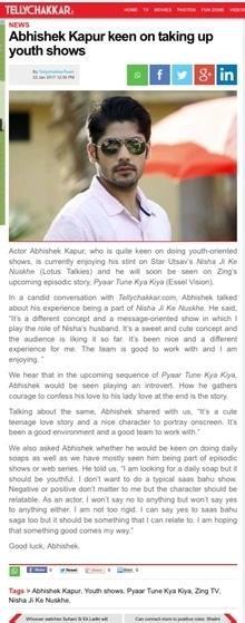 Forever young and for youth hahahha #tellychakkar  http://www.tellychakkar.com/tv/tv-news/abhishek-kapur-keen-taking-youth-shows-170122