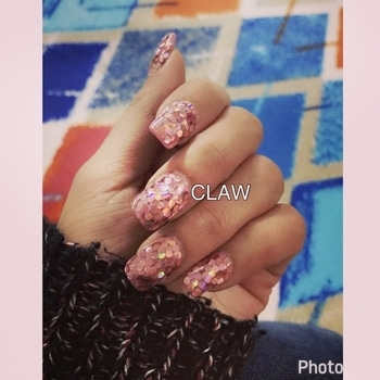 The all new sequins..#latest trend #happy client #happyus #claw #nailspa #getclawed💅🏻💅🏻