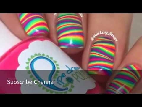 Super Cool Rainbow styles Nail art - How to do it yourself #nailart