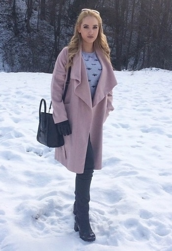 Pink Drop Shoulder Drape Collar Wrap Coat  order http://www.thefashionmart.in/  #pinkdress  #pinkcrop  #wrapcoats  #pinkdropsholder #thefashionmart #coatsoverdresses  #dresstoimpress  #pinkcrush