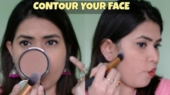 How to contour your face for beginners step by step tutorial in Hindi | How to slim your face