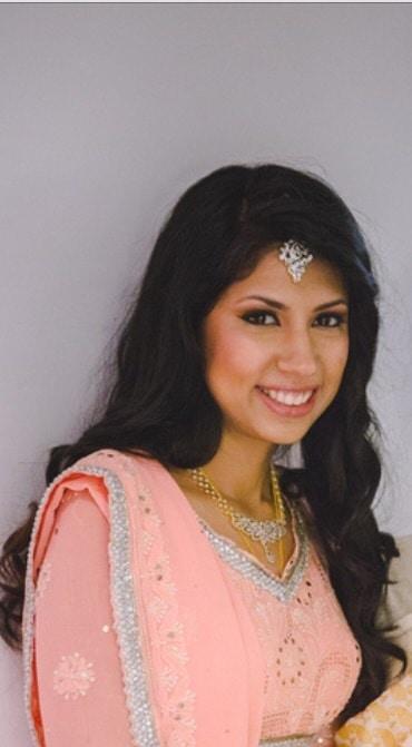 Reception makeup for this cute bride. #makeuplook #roposobride #soroposo #bridal #bridalmakeup #bridalmakeupartist #muabangalore #makeupbynikkineeladri #mufe #narscosmetics #mac #prettyinpink #subtlemakeup #natural-look #bridesofindia #bridesofroposo #pastel