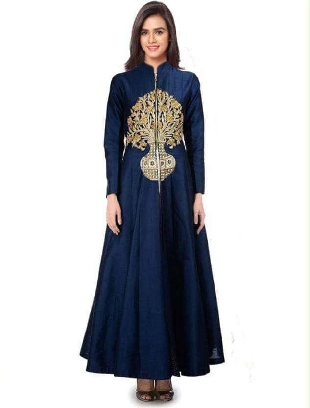 Party Wear Blue Readymade Gown - PG01 @ Rs.1260 /- Only    Buy Now : https://goo.gl/rwMyNj   Flat 10% OFF on First Order ( Use Coupon Code - IAMNEW10 ) Get Free Home Delivery + COD + Easy EMI + Easy Refund / Replacement Policy.!! * 100 % Customer Satisfaction  * Stitching Service Also Available  * World Wide Shipping  #gown  #designer #blue #womensonlineshopping #sale #storeadda #banglorisilk #weeingwear #partywear #goldenprinted #fancy #adoring #gownonline  #gowns