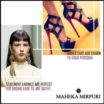 Maheka Mirpuri loves the athleisure trend of high-top sneakers, wedge booties and sky-high platforms. Pair them up with boyfriend denims and statement earrings which will continue to dominate in 2017. #BeGlamorous #Fashion2017 #Shoetrends #Fashionista #personalstyle #statementearrings