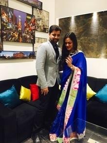 Lucknow Diaries #friendswedding #lucknow #sarees #blueandgrey #zari
