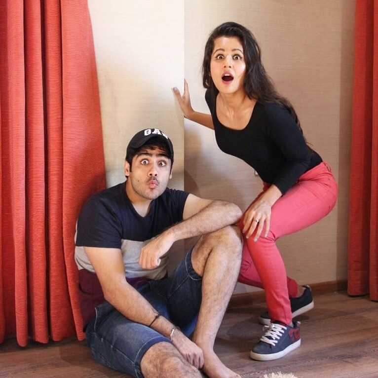 Hey guys stay tuned for our first vine together in association with #filmygyaan ...will share it tomm 😁❤️ P.S Do follow us on instagram iamabhishekkapur , radhika_bangia and filmygyan  #vines #funnyvideos #instavideos #couple #fun