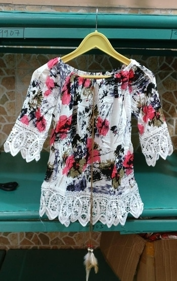 #floral #top #floralprint #floraldress #forher #pink #black #black-and-white  For More DM or Whats app  +91-8284997819