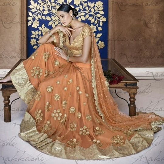 Beauty being the best possible version of yourself on the inside and out just like our gorgeous collection of #PartyWear #Gold #Lehengas #Wedding #FreeShipping in #India  http://www.ishimaya.com/lehengas/ceremonial-gold_2.html?price=9220-?utm_source=roposo&utm_medium=refferal&utm_campaign=smo