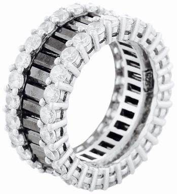 EternityBandRing#Black&White#Glamourous#Designer#Jewelsforlife#SeaJewels