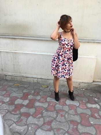 OOTD Dress- Cattleya Creations Blazer- Espirit Shoes- Charles & Keith  Choker- H&M #ootd #delhi #blogger #fashion #blog #fashionblogger #roposo #roposoblogger #floral #roposofashion #roposopost #newpost