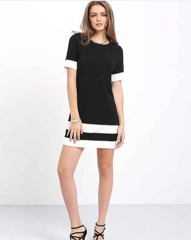 Go black and white! Go sexy! Yes beauties, grab this dress on www.whysochic.in #whysochic #chicalways #shiftdress #shortdress #blacknwhite