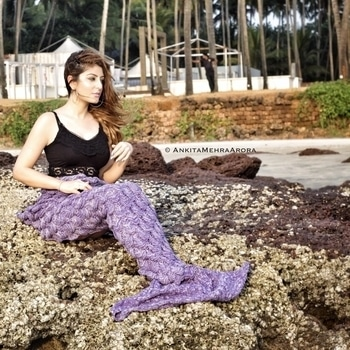 Who said mermaids aren't real? 😜   Loving my Mermaid blanket! Get yours from www.mangopeople.biz 🐋  Follow my page for more fashion and beauty related posts!     #goa #beachdress #mermaid #mermaidblanket #ootd #roposolove #roposodaily #ankitamehraarora #fashionblogger #delhiblogger #designer #bridal #anarkali #sharara #traditional #saree #sari #jewellery #stylist #hair #stylish #fashionstyle #online #happy #bloggerstyle #beautiful #mumbai #soroposo #potd #travel #hot #cute #photooftheday #celebrity #instagood #picoftheday #bloggerlife #dress #india #makeup #lehenga #fashionblogger #sexy #wedding #roposogal #follow #followme #instafashion #clothes #boots #gown #2017ready  #fashion