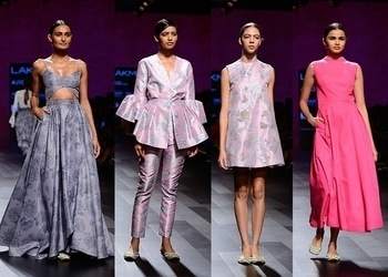 Nishka Lulla showcased a relaxed summer collection in whites, blacks, lilacs and pistachio green, giving way to light pink and bright fuchsia. Cutout dresses, shorts, blazers and mini tunics seen at her show are the perfect choice of outfit for a summer day out with your girlfriends.