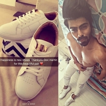 Happiness is new shoes 😍 thanks @doc_martin_shoes for these amazing ones. Just loving it.   #shoes #love #white #sneakers #casuals #sporty #insta #picoftheday #tagforlikes #blogger #fashionpost #international #supermodel #malemodel #shirtless #naked #body #toned #ripped #fitness #diet #sexy #hot #lean #thursday #tbt #actor #rough #bearded #hair #handsome #snapchat #trend #modellife #fashionroposo #soroposo #menonroposo