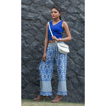 Add a dash of bling to your closet with these glittering ensembles from our latest collection of #PrintedPalazzoPant and many more only at www.ishimaya.com  http://www.ishimaya.com/bottoms/work/printed.html?utm_source=roposo&utm_medium=refferal&utm_campaign=smo