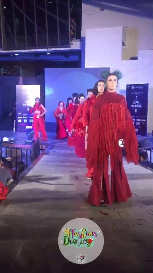 #NiftDelhi #fashionshow #Redlove #spectrum #Fashiondiaries
