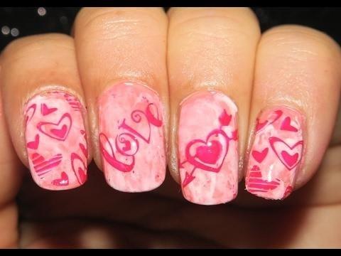 Love Stamping Smooshy Nail Art | Designyournailsbyisha #designyournailsbyisha #ishanailart #smooshynails #lovenailart #bornprettystampingnails #bps #nailart #naildesign #valentinesdaynailart #vday2017nails #redheartnails