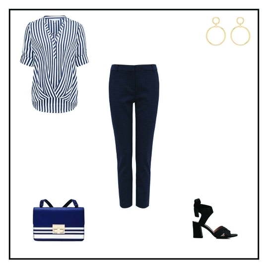 Get The Look! Chrissy Tuck Front Blouse INR 3200 Georgia Spot Cigarette Pant INR 4200 Natalia Crossbody Bag INR 3000 Camilia Double Statement Hoop Earring INR 900 Daisy Ankle Strap Mid Block Sandals INR 4400 #forevernewstyle