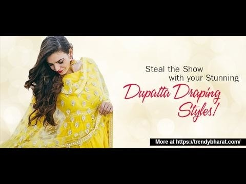 Sneak through these gorgeous dupatta draping styles on suit and step out like a diva! Style your dupatta in various ways right from front open to side plats, from Punjabi dupatta styles to Gujarati styles and steal the show! #dupatta #ethnicdupattas #roposo #weddding #indianoutfit #indiandesigner