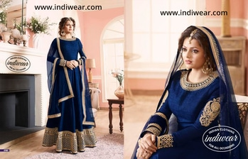 #indiwear #trendy #delhi #blue #styling #ethnic #dress #designer #bollywood #loveydovey #followme #swag #roposolove #fashion #desi #style #roposoaddict #anarkali #love #designersuit #partywear #discount #discountalert #discountedshopping   Shop this dress online at www.indiwear.com. Use coupon code XTRA12 to get 12% off on your entire order. Coupon valid till February 22, 2017.