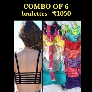 Combo of six caged bralette - ₹1050 cash on delivery available  get ₹80 discount if you pay by paytm / bank transfer  free size fits 32 to 34c bust size removable pads  . #osihub #fashion #women-fashion #ootd #chartobuy #brandzone #brandszone #mobile #accessories #cover #universal #aakritiranagill #adahsharma #ootd #ootn #fashionblogger  #fashionblog #indianfashionblogger #indianfashion #aashnashroff #thatbohogirl #thesnobjournal #littleprettythings #shauryasanadhya  #chattobuy #roposofashion #teenfashion #blog #teenblog #teen #teenfashionblogger #choker #zircon #aaliya #deepikapadukone #anushkasharma #adaah #aliyabhatt #skirt #midiskirt #floral #floralskirt #list #supersaver #ootd #ootn #ootning #bazaar #bazaarbride #bazarvilleindia #lists #nearyou #earrings #jhumke #longchainearrings #bale #traditional #jhumki #thebazaar #celebritystyle #stylestatement #international #interests #internationalfashion #videos #posts #fashiongurus #fashionandbeautytrends #trending #2017 #2017trend #2017style #lookbook #soroposo #roposo #roposogal #roposolove #style-file #stylereport #roposostyle #roposostyleblog #roposostylefiles #stylealert #trendalert2017 #trendsalert