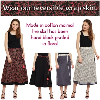 Wear our reversible wrap skirt  http://bit.ly/2lQyI2g  #9rasa #studiorasa #ethnicwear #ethniclook #fusionfashion #online #nicecollection #ethnic #skirt #wrapskirt #reversible #handblockprint