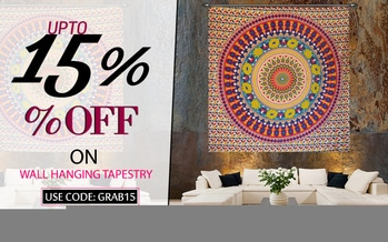 Our vast collection of tapestries wall hangings has variety of colors and designs to revamp any room. Free Shipping worldwide USA, UK, Canada, Australia and more.... Visit foe more :- https://www.handicrunch.com/en/textile-handicraft/wall-hangings-and-tapestry.html