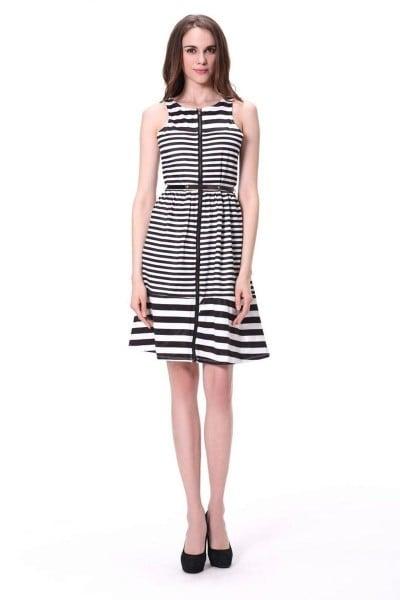 http://www.kalaniketan.com/indo-western-dresses/dazzling-black-white-color-designer-indo-western-dress-in-satin-silk-fabric.html #indowestern #womensfashion #partywearonline #lookfortheday