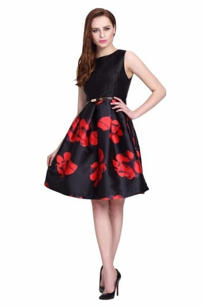 http://www.kalaniketan.com/indo-western-dresses/classic-satin-silk-designer-indo-western-outfit-in-black-color.html #black #red #indowestern #girlfashion #womensonlineshopping